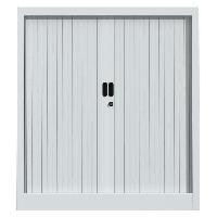 Armoire De Bureau PIERRE HENRY Armoire de bureau JOKER style industriel - Métal gris clair - L 90 x H 100 cm