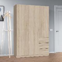 Armoire De Chambre Armoire de chambre style contemporain melaminee decor chene canadien - L 135 cm