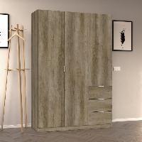 Armoire De Chambre Armoire de chambre style contemporain melaminee nordik - L 135 cm