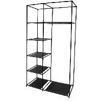 Armoire De Chambre IDEBOX Structure armoire 5 cases et 1 penderie - Noir