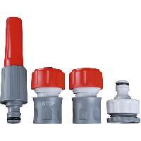 Arrosage DIPRA Kit lance + raccords - Multi-jet - Plastique - Ø15 mm - Gris et rouge