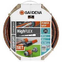 Arrosage GARDENA Tuyau d'arrosage HighFlex 20m O15 mm +lance et access