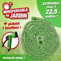 Arrosage Tuyau de jardin extensible 7.5 a 22 m - Avec embout de connection et Pistolet pulvérisateur 7 fonctions
