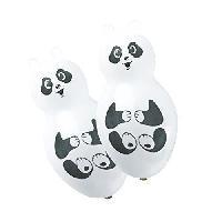 Articles - Decoration De Fete  4 Ballons - Latex - Forme Panda