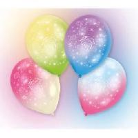 Articles - Decoration De Fete  4 Ballons avec LED - Latex - Feux d'artifice - 27.5 cm
