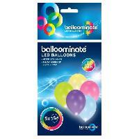 Articles - Decoration De Fete  5 Ballons avec LED - Latex - 27.5 cm - Coloris assortis