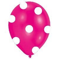 Articles - Decoration De Fete  6 Ballons - Latex - Pois - Imprime tous cotes