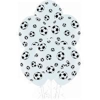 Articles - Decoration De Fete  6 Ballons de foot Latex - Imprime tous cotes
