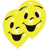 Articles - Decoration De Fete  8 Ballons - Latex - Imprime 2 faces - Jaune