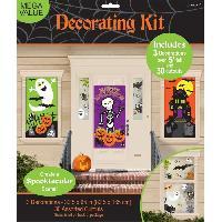 Articles - Decoration De Fete  AMSCAN Kit 34 Décorations Family Friendly Halloween - 1.65m x 85 cm