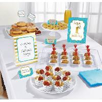 Articles - Decoration De Fete  AMSCAN Kit de décoration Buffet 1st Birthday 12 pieces Bleu