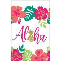 Articles - Decoration De Fete  AMSCAN Nappe plastifiée Aloha 137 x 259 cm