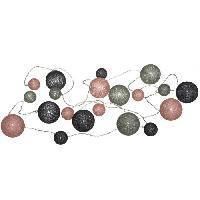 Articles - Decoration De Fete  ATMOSPHERA Guirlande LED Pile 20 Boules Multi diametre