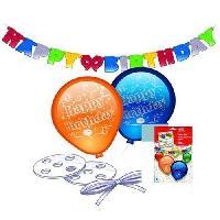Articles - Decoration De Fete  Ballons + Guirlande - Happy Birthday