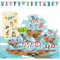 Articles - Decoration De Fete  KIt de Fete Ahoy Birthday 51 Pieces