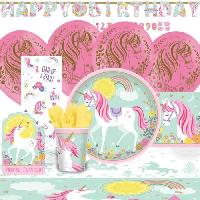 Articles - Decoration De Fete  KIt de Fete Magical Unicorn 68 Pieces