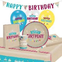 Articles - Decoration De Fete  KIt de Fete My Birthday Party 60 Pieces