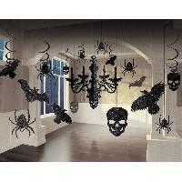 Articles - Decoration De Fete  Lustre et decoupes pailletees - 18 pieces