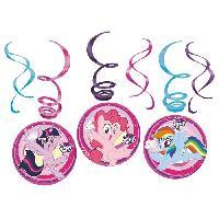 Articles - Decoration De Fete  MY LITTLE PONY 6 Spirales Decoratives
