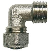 Assainissement (tuyau - Drain - Raccord) Raccord a Compression Multicouche - Coude Male - D16 Filetage 12