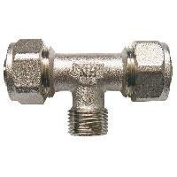 Assainissement (tuyau - Drain - Raccord) SOMATHERM Raccord a Compression Multicouche - En Te - Male au Centre - O 20 Filetage 1-2