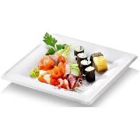 Assiette Jetable NATURESSE - N128-6 - 6 Assiettes carrees Karo - Canne a sucre - 20 x 20 cm