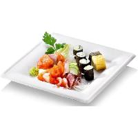 Assiette Jetable NATURESSE - N129-6 - 6 Assiettes carrees Karo - Canne a sucre - 26 x 26 cm