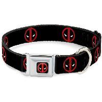 Attache - Sellerie Collier Chien Marvel: Logo Deadpool - L