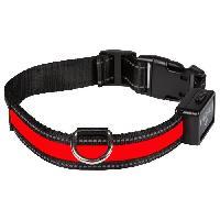 Attache - Sellerie Collier lumineux Light Collar USB rechargeable M - Rouge - Pour chien