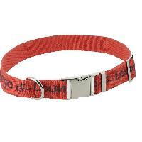 Attache - Sellerie DIEGO et LOUNA Collier en nylon 60 cm - Corail et anthracite - Pour chien