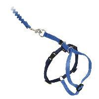 Attache - Sellerie EASY WALK Harnais et laisse M - Bleu - Pour chien