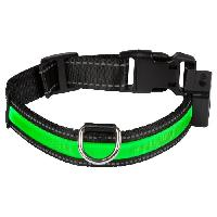 Attache - Sellerie EYENIMAL Collier lumineux Light Collar USB rechargeable L - Vert - Pour chien