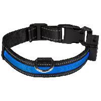 Attache - Sellerie EYENIMAL Collier lumineux Light Collar USB rechargeable M - Bleu - Pour chien