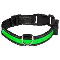Attache - Sellerie EYENIMAL Collier lumineux Light Collar USB rechargeable M - Vert - Pour chien