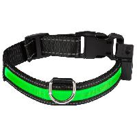 Attache - Sellerie EYENIMAL Collier lumineux Light Collar USB rechargeable S - Vert - Pour chien