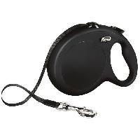 Attache - Sellerie FLEXI New Classic Laisse sangle - L : 8 m - Noir - Pour chien