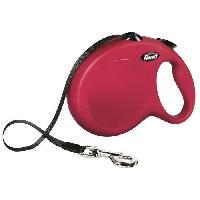 Attache - Sellerie KERBL Laisse-sangle Flexi NewClassic L - Longueur : 8 m - Poids max : 50 kg - Rouge - Pour chien