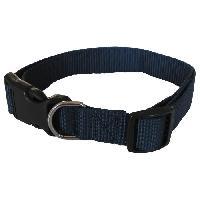 Attache - Sellerie YAGO Collier Classique Bleu en Nylon pour grand chien. taille L 40-58 cm