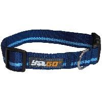 Attache - Sellerie YAGO Collier pour chien en Nylon. Couleur Bleu/Bleu Ciel. pour moyen chien. taille M 34-53 cm