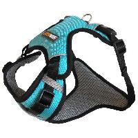 Attache - Sellerie YAGO Harnais Sport pour Petit Chien. Couleur Bleu. Réglable Taille S 58-70 cm. Tissu waterproof imperméable