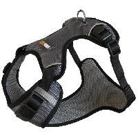 Attache - Sellerie YAGO Harnais Sport pour Petit Chien. Couleur Gris. Réglable Taille S 58-70 cm. Tissu waterproof imperméable