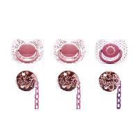 Attache Sucette - Boite A Sucette SUAVINEX Pack attache sucette + sucette couture silicone +4mois - Fille