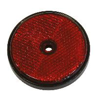 Attelage voiture 2 Reflecteur ronde 70mm rouge