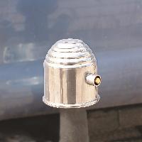 Attelage voiture Cache rotule chrome avec serrure