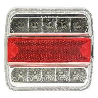 Attelage voiture Feu arriere 5 functions 10 LED 100x10x37mm