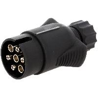 Attelage voiture Prise remorque male - 7PIN - 12VDC - compatible avec fil 10mm - nickele
