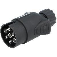 Attelage voiture Prise remorque male - 7PIN - 12VDC - compatible avec fil 6mm - nickele