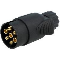 Attelage voiture Prise remorque male - 7PIN - 12VDC - pour cable 6mm ADNAuto