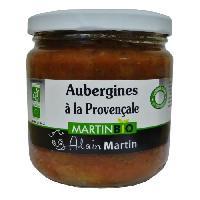Aubergine En Conserve Aubergines a la Provençale BIO 380G - Alain Martin