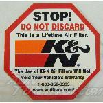 Autocollant KN - Stop Do not discard - KNautocollantOcto K&N